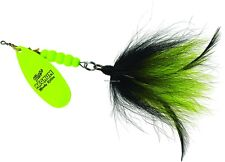 New Mepps Magnum Musky Killer Lure 1 1/4oz Hot Chartreuse Black & Chartreuse
