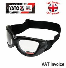 Yato Professional Safety Goggles Impact Resistant Polycarbonate UV Safe YT-7377