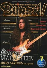 Burrn! Heavy Metal Magazine July 2016 Japan Yngwie Malmsteen Iron Maiden