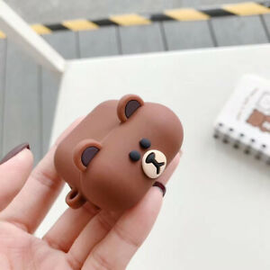 New Brown Bear Earphone Silicone Cover For Apple AirPods 1 2 3 Pro Cases