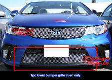 Fits Kia Forte Koup Bumper Stainless Steel X Mesh Grill Insert-Fits 2010-2013