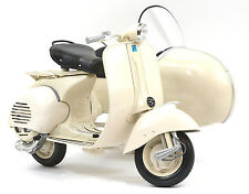 NEWRAY 1/6 SCALE 1955 BEIGE/CREAM VESPA 150 VL 1T WITH SIDECAR MOTORCYCLES