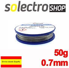 50g ESTAÑO 60/40 SN/PB PLOMO 2.5% Flux 0.7mm HILO SOLDADURA Soldadores Q0002