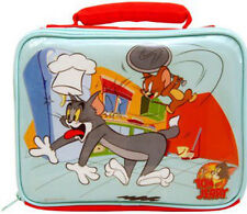 LUNCH BAG TOM & JERRY CAT & MOUSE KITCHEN SCHOOL SANDWICH BOX BLUE RED GREY