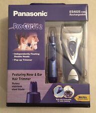 PANASONIC ES4025 DUAL HEAD PRO-CURVE-2 RECHARGEABLE MENS ELECTRIC SHAVER + MORE