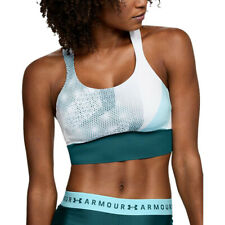 Under Armour Womens Breathelux Sports Support Bra Top Blue Gym Breathable