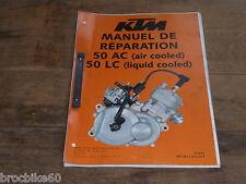 MANUEL REVUE TECHNIQUE D ATELIER MOTEUR KTM 50 MINI 2002-> 50 AC LC