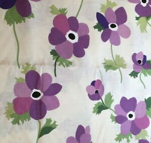 Liberty of London Fabric Miranda Poppies Lilac Printed Linen Floral by Meter