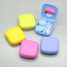 Contact Lens Travel Case Mirror Kit Holder Box Remover Applicator Tweezers Mini