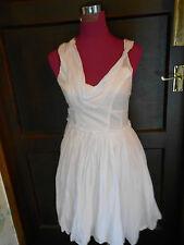 Beautiful All Saints Lelex  Dress White Size 10 VGC