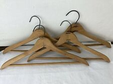 Lot of 4 Vintage early Wooden Clothes Clothing Coat Suit Hangers