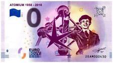 Billet Touristique - 0 Euro - Belgique - Bruxelles - Atomium (2018-1)