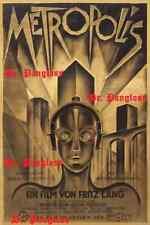 Rare Metropolis Sci Fi Movie Poster 1927 Fritz Lang Silent Film Art Deco Print