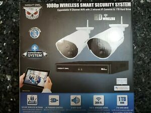 Night Owl 1080p Wireless Smart Security System 4 Channel 1 TB HD Infrared