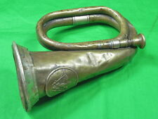 Antique Old WWI WW1 German Germany or US Copper Military Army Bugle Trumpet
