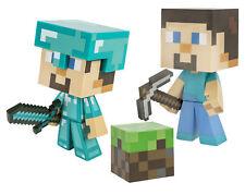"Minecraft Steve Vinyl 6"" Limited Edition Figure with Minecraft Diamond Steve Vin"