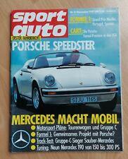 Sport Auto 11/1987 - Porsche Speedster - Mercedes 190 - Toyota Celica - TVR 350i