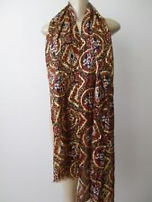 PATRICIA NASH GOLD PROVENCAL ESCAPE PRINT WITH METALLIC THREADS SCARF - NEW