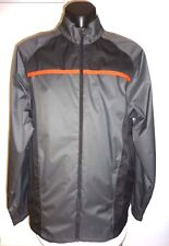 Adidas Mens Jacket  NWOT Sz L Climaproof Charcoal Sports Casual Windbreaker Zip