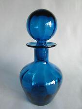 Blenko Decanter Cruet Blue Blown Art Glass Crystal Liquor Water Vintage