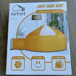The Original AirFort Build An AirFort In 30 Seconds Creamsicle Orange New In Box