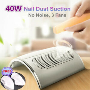 Nail Dust Collector 3 Fan Suction Collector Vacuum Cleaner with Bags Nail Art