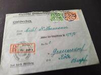 Bayern Dienstmarken 17/22 Einschreiben Bayr. Fleischversorgungsstelle 1917