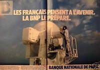 PUBLICITÉ 1981 BANQUE NATIONALE DE PARIS BNP - ADVERTISING