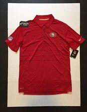 Nike San Francisco 49ers Early Season Red Dri-Fit Polo Shirts Mens Size M