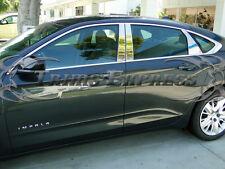 2014-2017 Chevy Impala 6Pc Chrome Pillar Post Stainless Steel