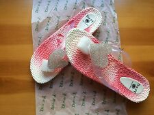 New Dizzy Women's Jelly Sandals Flip Flops Dye Heart Pink Size 10 US NIB