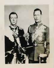 Portrait du Roi Edward VIII (à gauche) et du Duc de York. Vintage silver print
