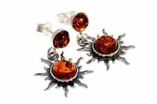 SilverAmber Jewellery Studs Earrings 5334 Cognac Stones & 925 Sterling Silver