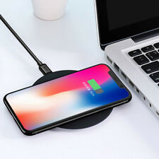 Ultra-thin Portable QI Wireless Fast Charging Pad Base for iPhone 8/X Charger AU