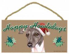 "ITALIAN GREYHOUND--Happy Howlidays-Dog Decorative Wood Plaque/Sign 5""x 10"""