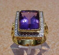 Bishop 18K Gold Amethyst Diamond Ring