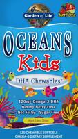 GARDEN OF LIFE Oceans Kids DHA für Kinder Omega-3 Beere-Limette 120 kaubare Gels
