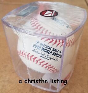 NEW Rawlings World Series 2018 Baseball Cubed Boston Red Sox Los Angeles Dodgers