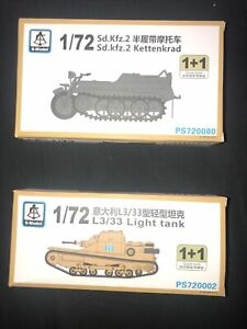 S-model PS720002 1/72 Italian L3/33 Light Tank + KETTENKRAD   New Sealed
