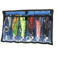 Octopus Skirts Trolling Lures Saltwater Tuna Marlin Trolling Skirt Lures 6pcs