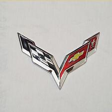 3D Car Aluminum Emblem Badge Sticker Decal Chevrolet Corvette Exterior Accessory