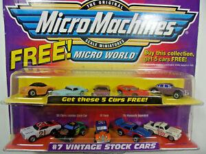 Micro Machines #7 Vintage Stock Cars + 5 Bonus Cars #65130 NIP 1999 LGTI, RARE!