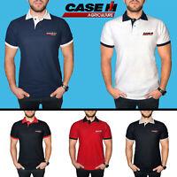 Case IH Agriculture Polo T Shirt COTON Logo Brodé Tracteur Vêtements Homme