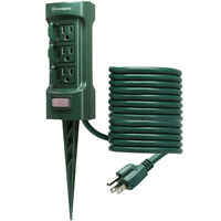 6 Outlet Power Outdoor Stake, Outlet With 9 ft Extension Cord ETL Certified