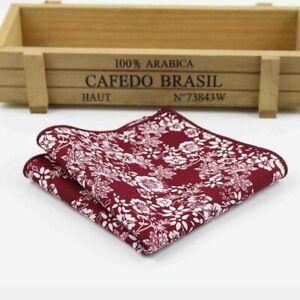 Vintage Cotton Handkerchief Pocket Square Rose Flower Paisley Hankies Scarves