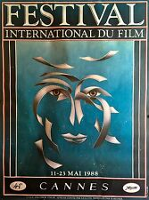 "CANNES FILM FESTIVAL 1988  ORIGINAL OFFICIAL POSTER 68"" X 45 3/4"" ROLLED"