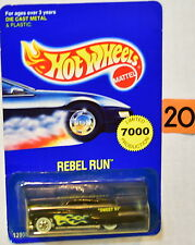 HOT WHEELS 1993 REBEL RUN LIMITED 7000 PRODUCTION PURPLE PASSION BLACK
