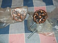 ksm. New No Packages 2 Knobs Leaf Design  Non-Magnetic  About 7/8 Inch High