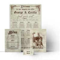 Vintage DISNEY Wedding Seating Plan Table Chart Menus Place Cards Canvas