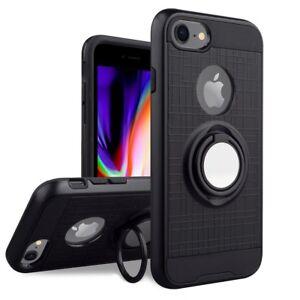 cover iPhone SE 2020 7 8 silicone pop stand anello 360° magnetico tpu resistente